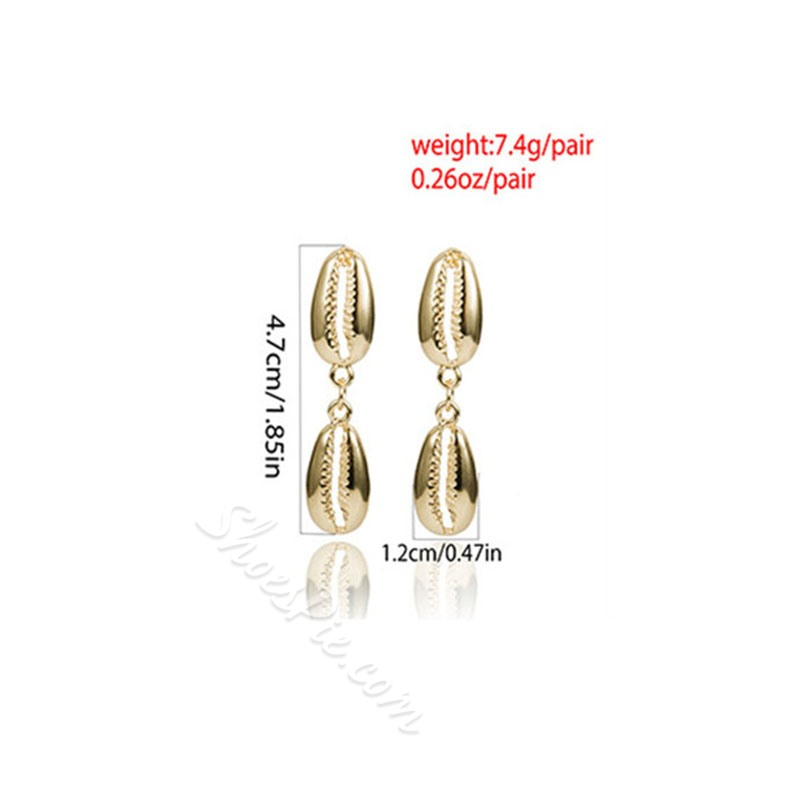 Plain Bohemian E-Plating Anniversary Earrings