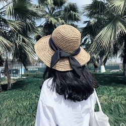 2019 Round Top Wide Brim Beach Straw Sun Hat