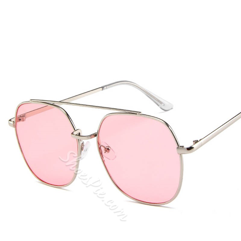 Metal Frame Multi Color UV400 Mirrors Sunglasses