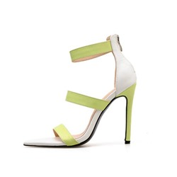 Shoespie Open Toe High Heel Zipper Sandals