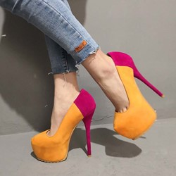 Shoespie Stiletto Heel Platform Pumps