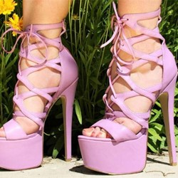 Shoespie Strappy Zipper Stiletto Heel Sandals