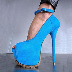 Shoespie Platform Peep Toe Buckle Stiletto Heels