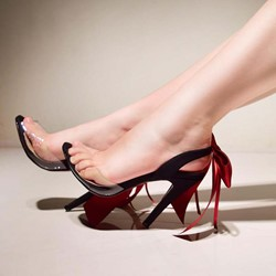 Shoespie Open Toe Slingback Strap Bow Sandals