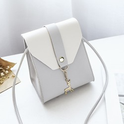 Shoespie PU Color Block Korean Crossbody Bags