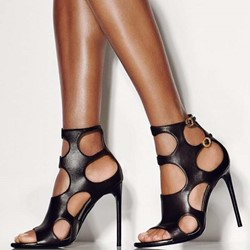 Shoespie Open Toe Buckle Stiletto Heel Sandals