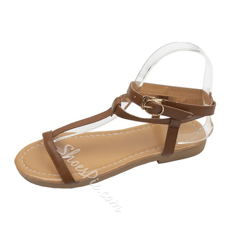 Shoespie Buckle Open Toe Strappy Casual Sandals