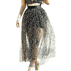Ankle-Length Ball Gown Polka Dots Western Women's Skirt