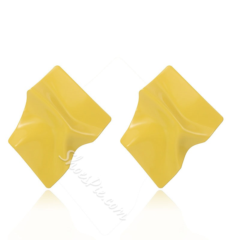 Bright Candy Color Wrinkle Geometric Stud Earrings