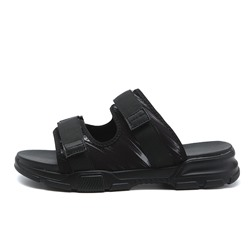 Shoespie Summer Simple Men's Black Slippers