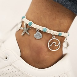 Summer Beach Starfish Pendant Anklets For Women