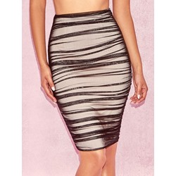 Plain Pleated Bodycon Western Women's Skirt
