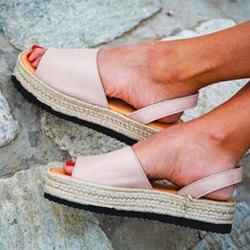 Shoespie Trendy Open Toe Slip-On Platform Low-Cut Upper Sandals