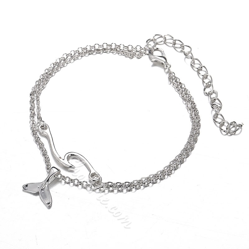 2 Pcs Bohemian Beads Summer Anklet Chain for Women