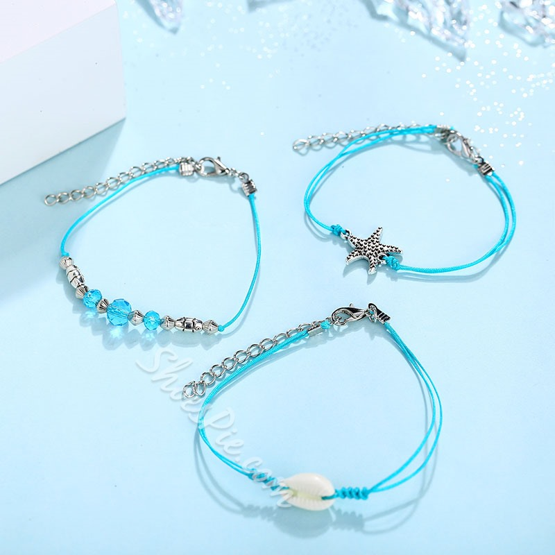 Bohemian Beading Blue Rope Anklet Chain