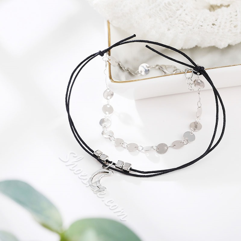 Moon Shape Multiple Layers Anklets