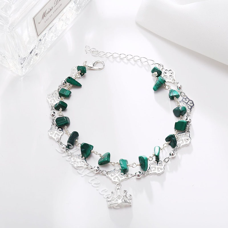 Bohemia Bead Crown Pendant Anklets For Women