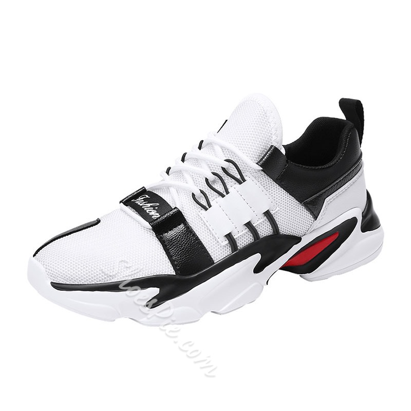 Shoespie Men's Chunky Lace-Up Sneakers
