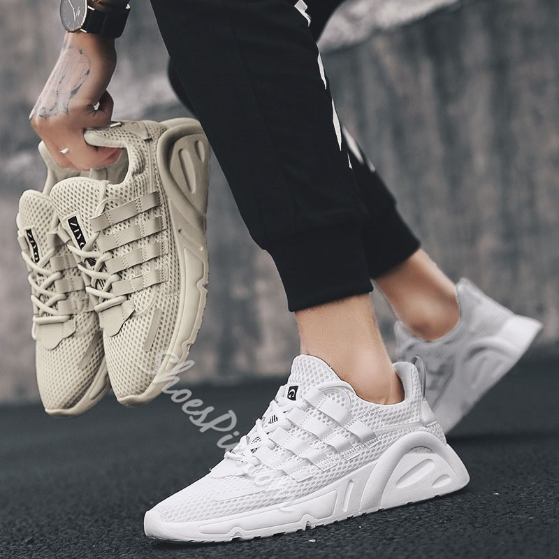 Shoespie Lace-Up Sports Flat Men's Sneakers
