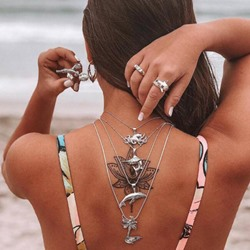 Sexy Animal Women Alloy Bikini Back Necklace