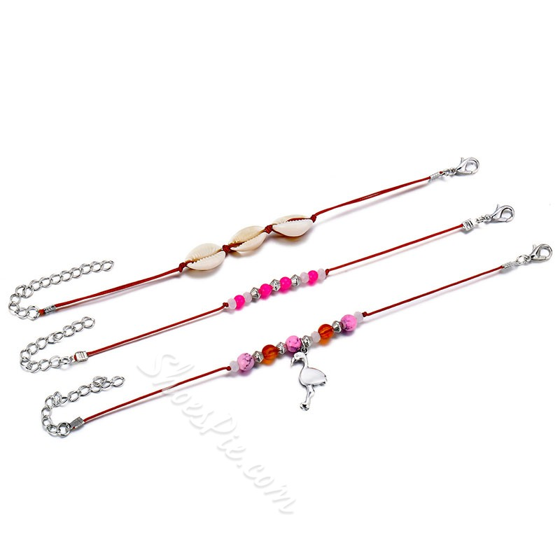 Vintage Shell Beads Anklets For Women