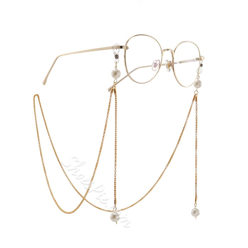 Shiny Pearl Pendant Glasses Lanyard Strap Necklace