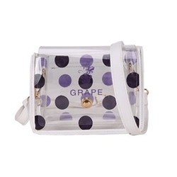 Shoespie Polka Dots ABS Plastic Flap Crossbody Bags