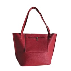 Shoespie PU Plain Thread Rectangle Tote Bags