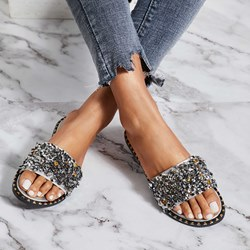 ffc0d006486e Shoespie Crystal Cute Flip Flop Rhinestone Slip-On Summer Slippers