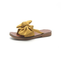 Shoespie Bow Thong Casual Slippers