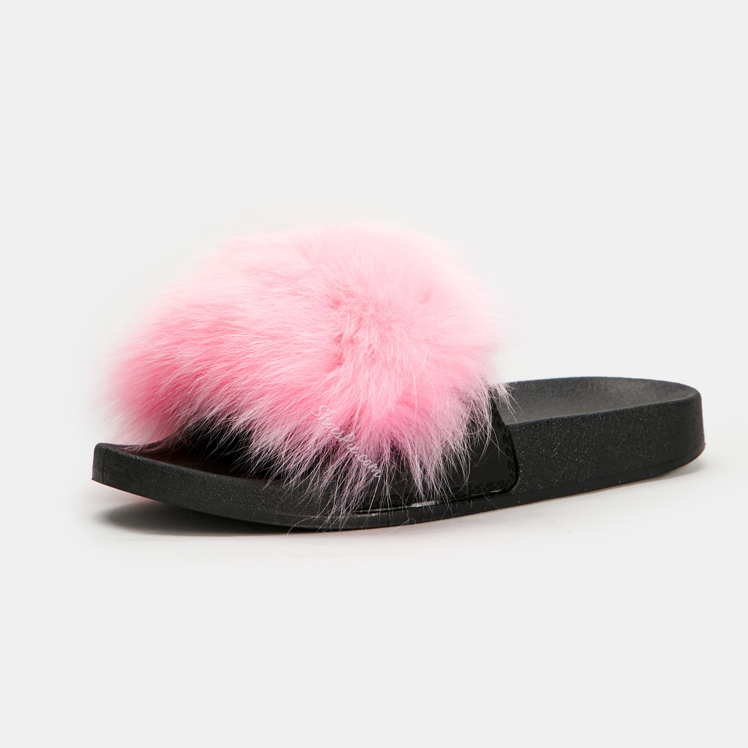 Shoespie Cute Faux Fur Flat Casual Slippers