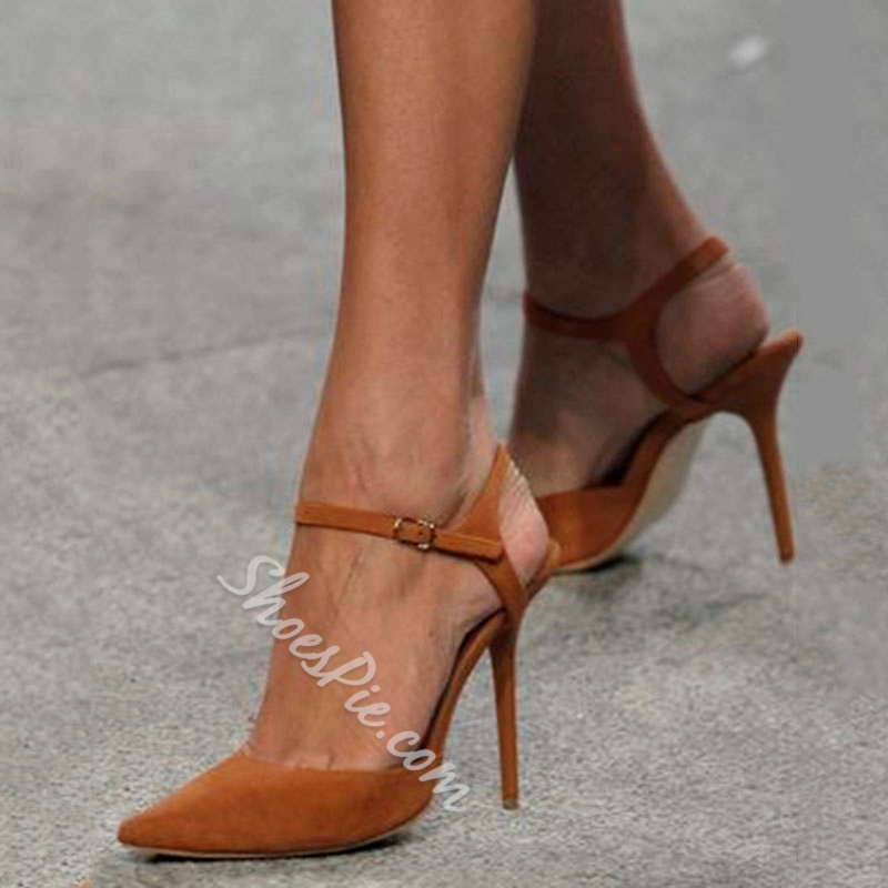 a8a6342275 Shoespie Camel Pointed Toe Style Stiletto Heels- Shoespie.com