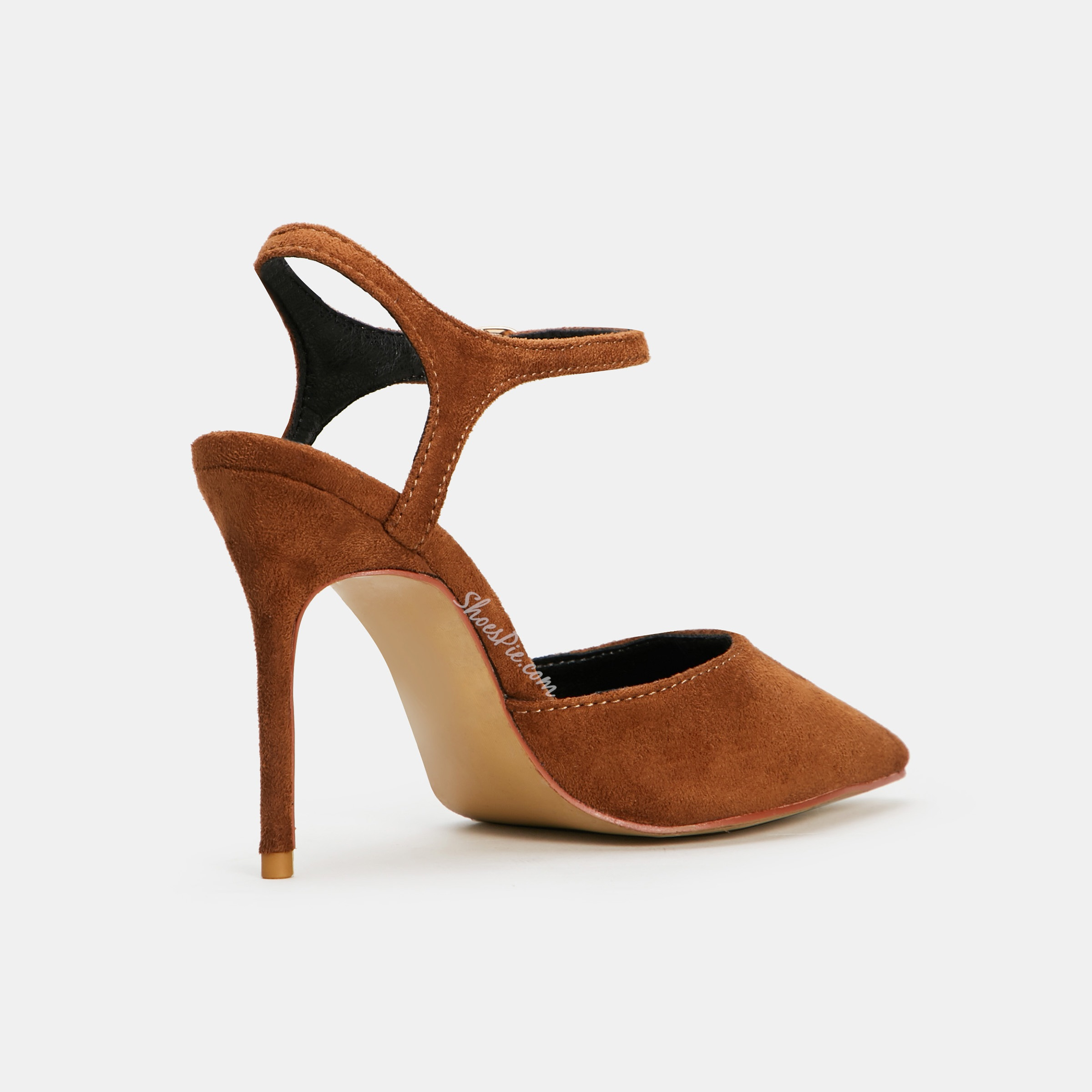 Shoespie Camel Pointed Toe Style Stiletto Heels