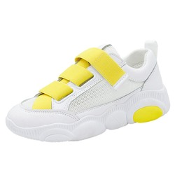 Shoespie Velcro White Mesh Sneakers