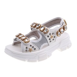 Shoespie Flat Slingback Strap Velcro Casual Sandals