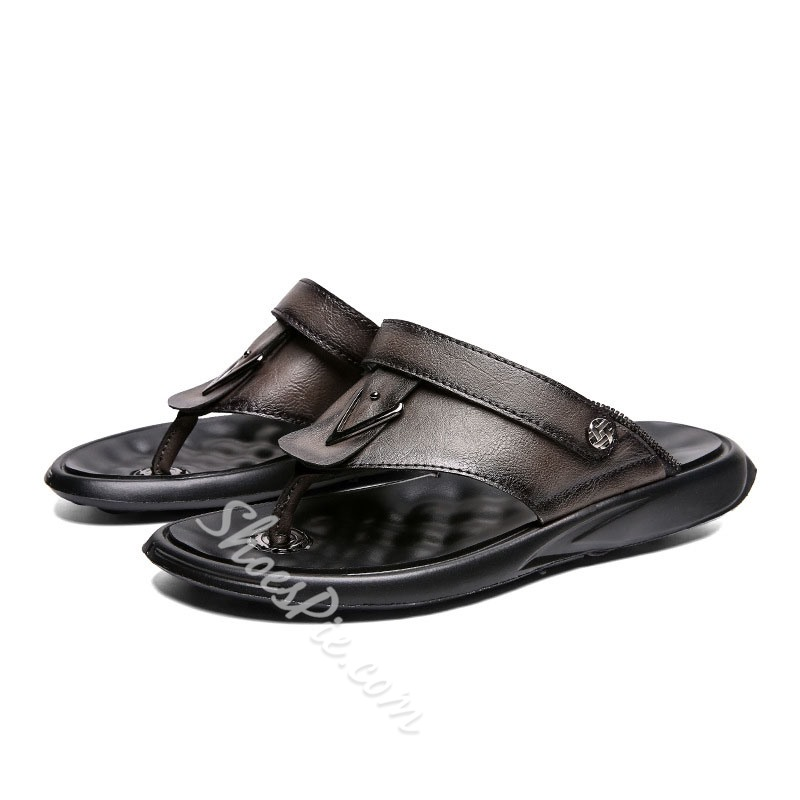 Shoespie Men's Clip Toe Flat Sandals