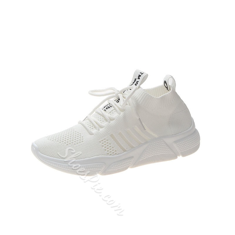 Shoespie Lace-Up Mesh Sneakers