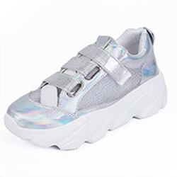 Shoespie Casual Velcro Color Block Sneakers
