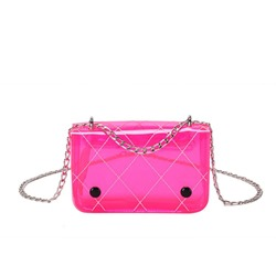 Shoespie PVC Plaid Thread Rectangle Crossbody Bags
