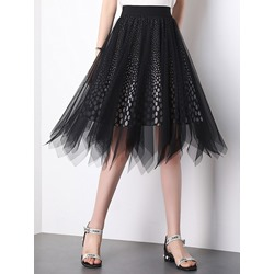 Mid-Calf Asymmetrical Asymmetric Mid Waist Women's Skirt