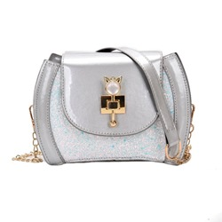 Shoespie Plain PU Chain Crossbody Bags
