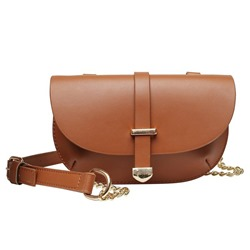 Shoespie Thread Plain PU Saddle Crossbody Bags