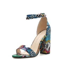 1efa7df57 Shoespie Colorful Chunky Heel Buckle Sandals
