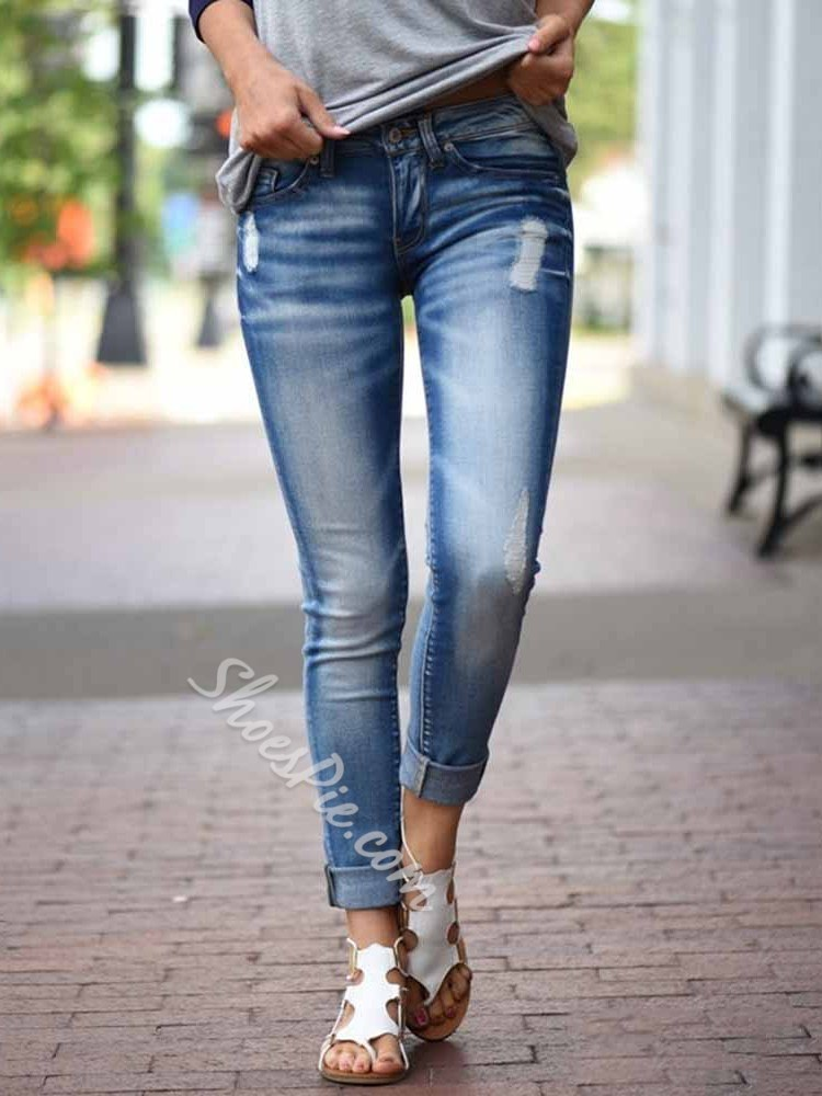 Zipper Pencil Pants Zipper Women's Jeans