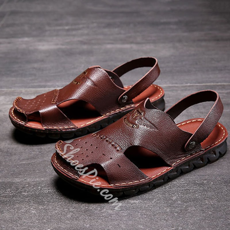 Shoespie Men's Summer Hollow Sandals