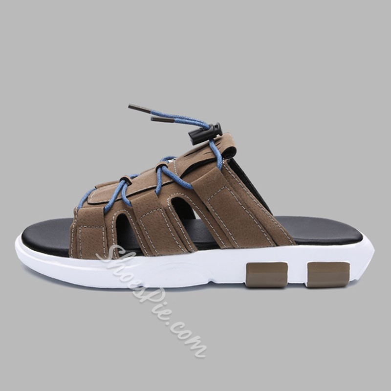 Shoespie Summer Simple Men's Lace-Up Slippers