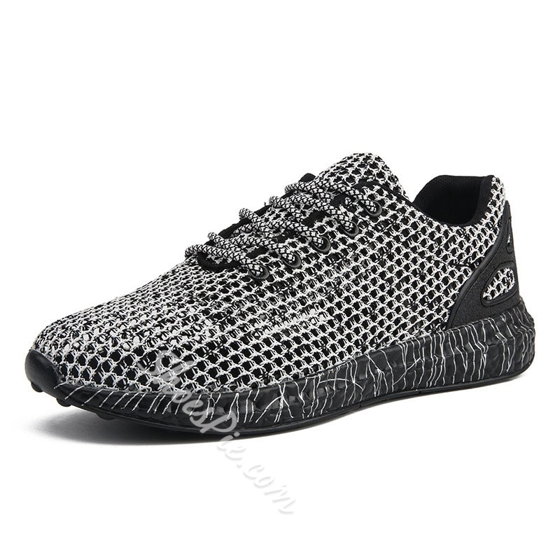 Shoespie Men's Casual Mesh Lace Up Sneakers