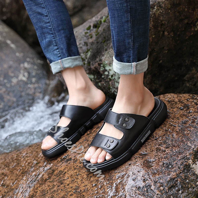 Shoespie Mne's Summer Microfiber Slippers