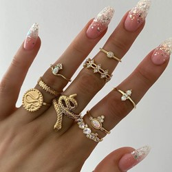 Alloy Diamante European Anniversary Rings