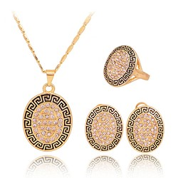 Geometric Vintage Earrings Prom Jewelry Sets
